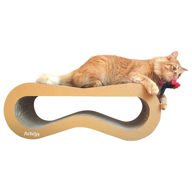 PetValley Cuccia Tiragraffi per Gatti Colore Kraft Marrone